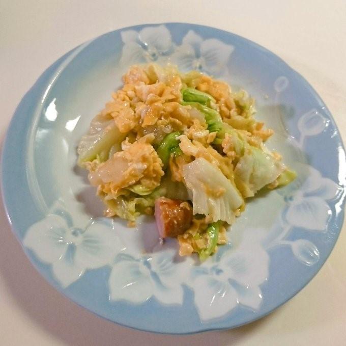 キャベツと卵の中華炒