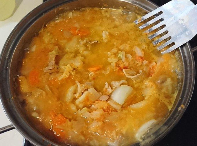 野菜の水分だけで作った無水カレー