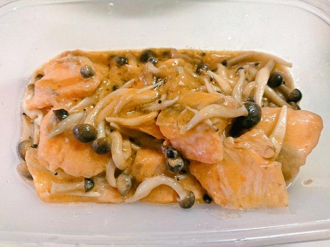 鮭とぶなしめじのオーロラソース